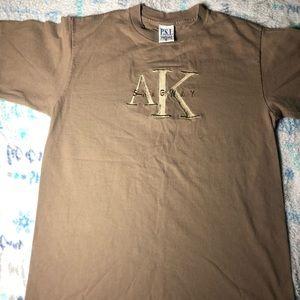 Vintage 90s Skagway Alaska embroidered men's shirt